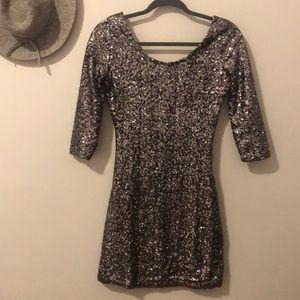 Silver sequin dress sz small